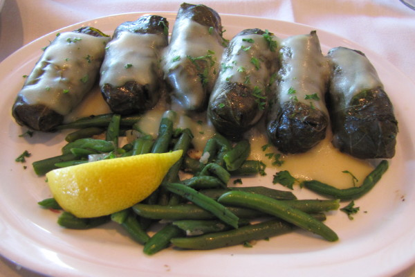 photo of stuffed grape leaves from the Aegean, Watertown, MA