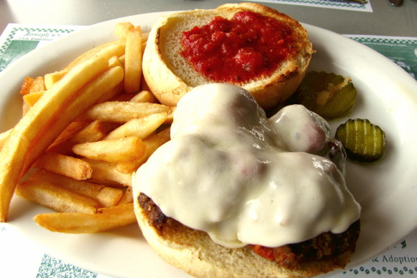 photo of meatball sandwich from Al Mac's Diner, Fall River, MA