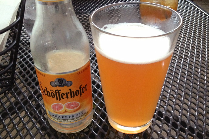 photo of Schofferhofer Grapefruit Beer from the Ashmont Grill, Dorchester, MA