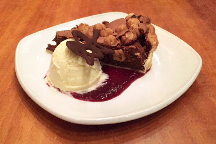 photo of a chocolate-hazelnut tart from the Ashmont Grill, Dorchester, MA