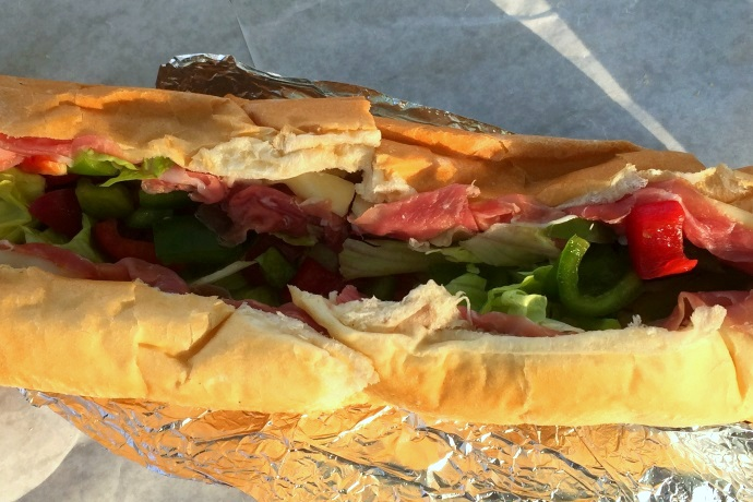 photo of prosciutto and provolone sub from Avellino's, Medford, MA
