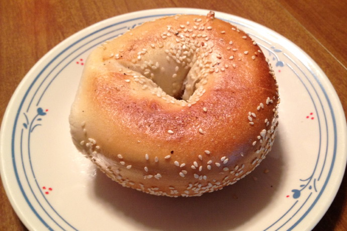 photo of sesame bagel from Back Bay Bagel Company, Brockton, MA