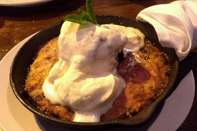 photo of skillet cookie with ice cream from CK Pearl, Essex, MA, MA