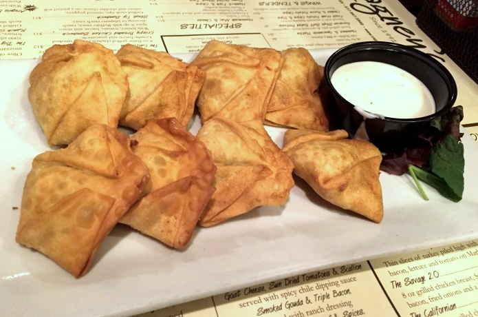 photo of smoked gouda and bacon wontons from Cagney's, Quincy, MA