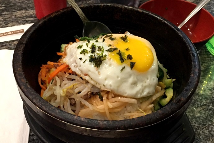 photo of okdol bibimbap from Cho Cho's, Cambridge, MA