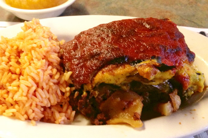 photo of moussaka from Christo's Restaurant, Brockton, MA