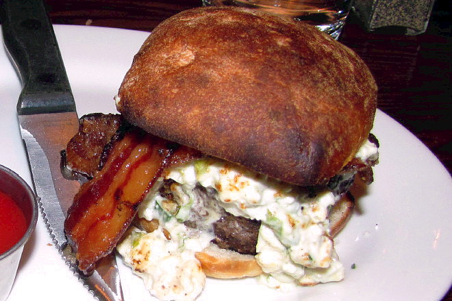 photo of burger from the Citizen Public House, Boston, MA