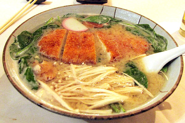 photo of ramen noodles with chicken katsu and miso from Daikanyama, Lexington, MA