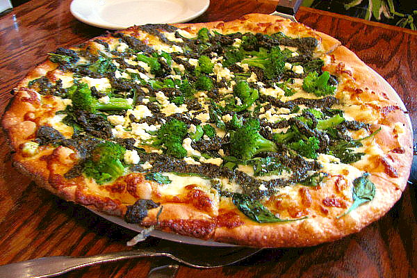 photo of Evergreen Pizza from the Dogwood Cafe, Jamaica Plain, MA