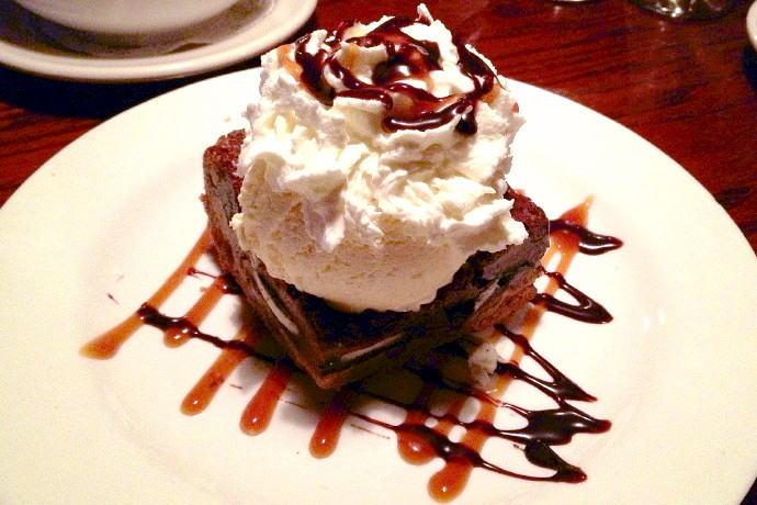 photo of brownie sundae from the Dogwood Cafe, Jamaica Plain, MA