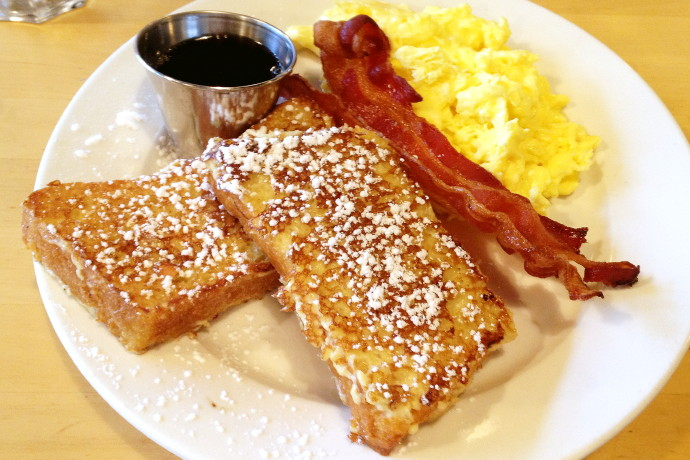 photo of brioche French toast from Dot 2 Dot Cafe, Dorchester, MA