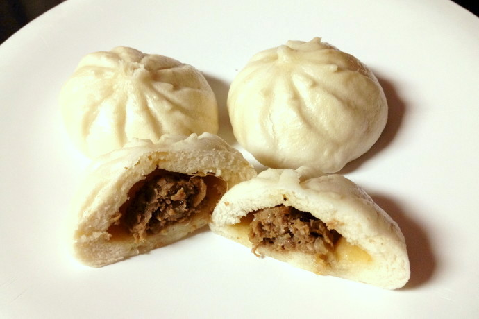 photo of steamed beef with minced onion buns from Dumpling Daughter, Weston, MA