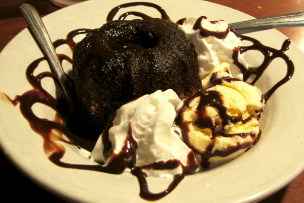 photo of chocolate lava cake from Finnegan's Wake, Walpole, MA