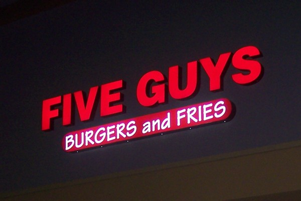 photo of Five Guys Burgers, Dedham, Massachusetts
