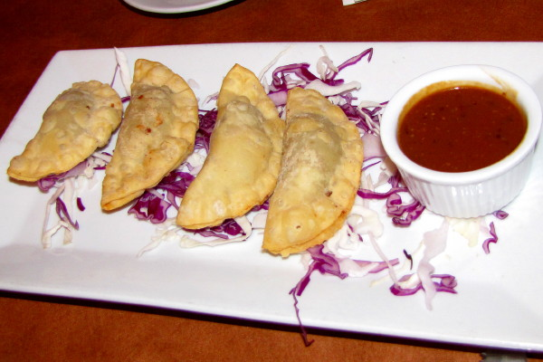photo of truffled cheesesteak empanadas from the Good Dog Bar and Restaurant, Philadelphia, PA