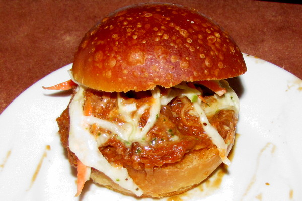 photo of pulled pork slider from the Good Dog Bar and Restaurant, Philadelphia, PA