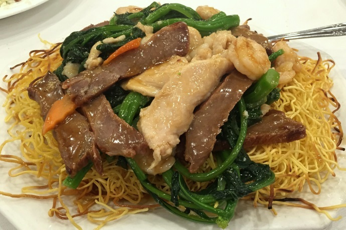 photo of house pan-fried noodle special from Hei La Moon, Boston, MA