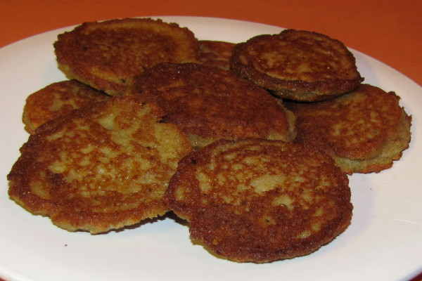 photo of homemade potato latkes