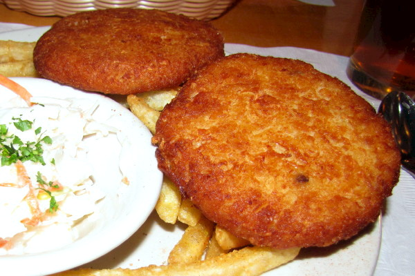 photo of fish cakes from In a Pig's Eye, Salem, MA