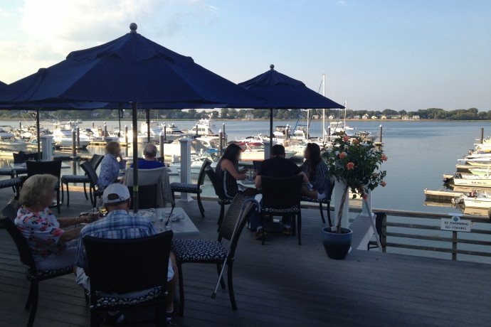 Photo  Outdoor Deck At The Inn At Bay Pointe  Quincy  Ma
