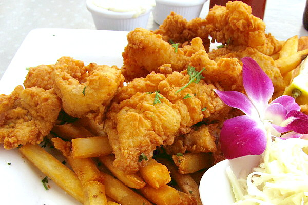 photo of fried scrod from the Inn at Bay Pointe, Quincy, MA