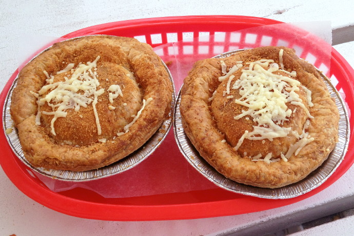photo of beef and cheese pies from KO Pies at the Shipyard, East Boston, MA