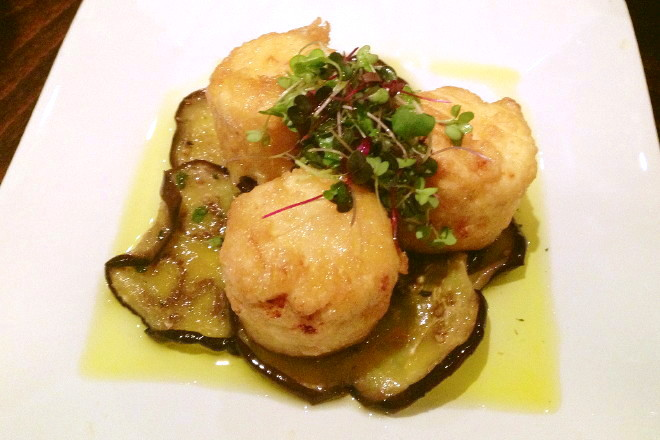 photo of fried ricotta with eggplant from L'Impasto, Cambridge, MA