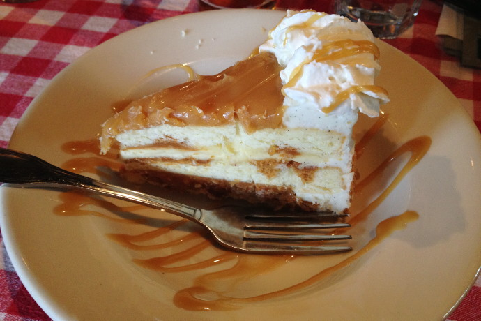 photo of salted caramel cake from Land Ho!, Orleans, MA