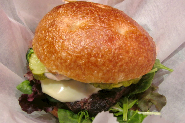 photo of poblano burger from The Madrona Tree, Arlington, MA
