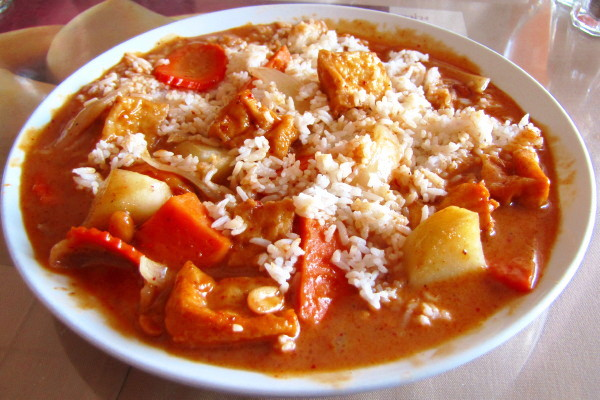 photo of massaman curry from Mango II, Tewksbury, MA
