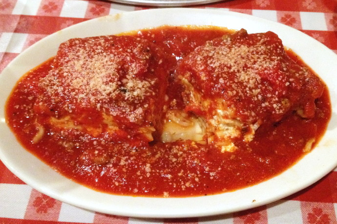 photo of lasagna from Mario's Italian Restaurant, Lexington, MA