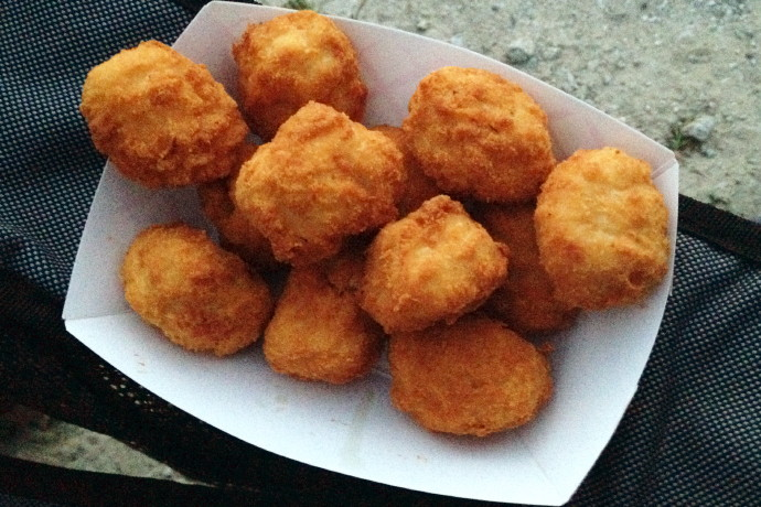 photo of popcorn chicken from the Mendon Drive-In, Mendon, MA