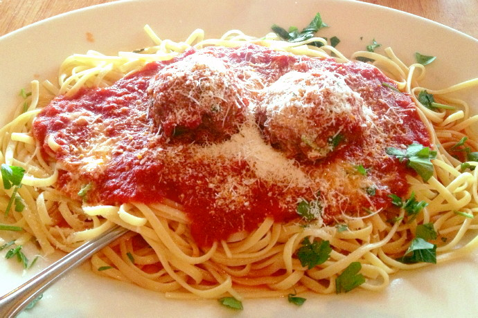 photo of linguine and meatballs from Mezzo Mare, Hull, MA