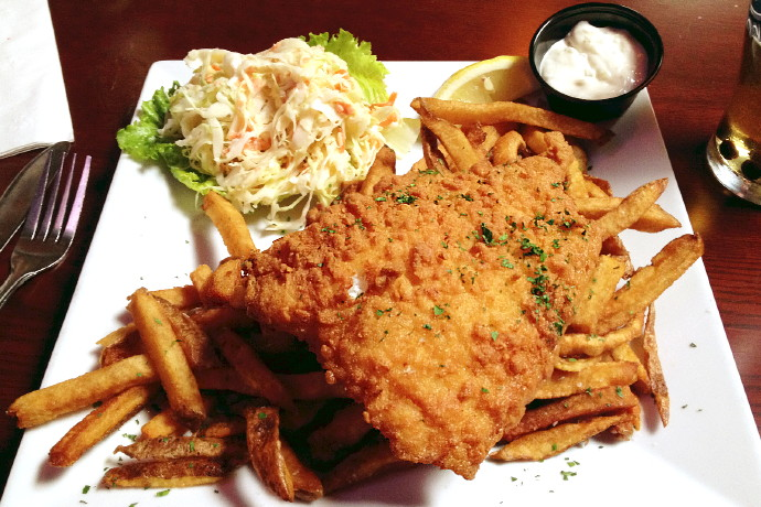 photo of fish and chips from Napper Tandy's, Roslindale, MA