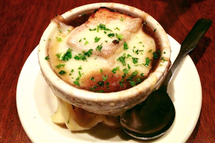 photo of French onion soup from O'Hara's, Newton Highlands, MA