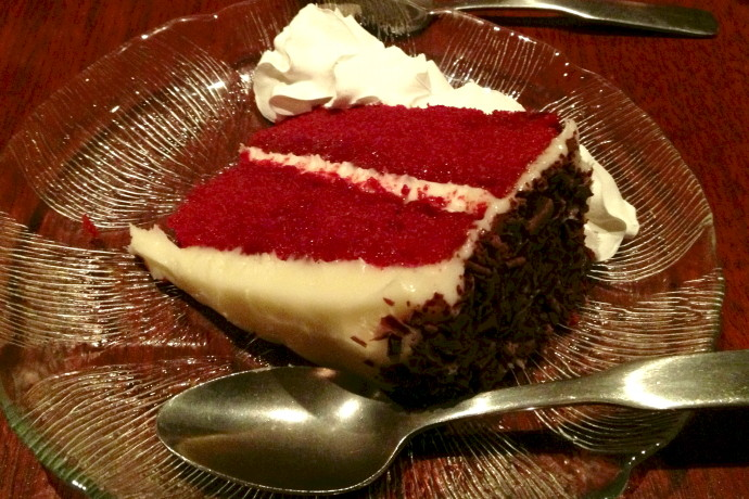 photo of red velvet cake from O'Hara's, Newton Highlands, MA