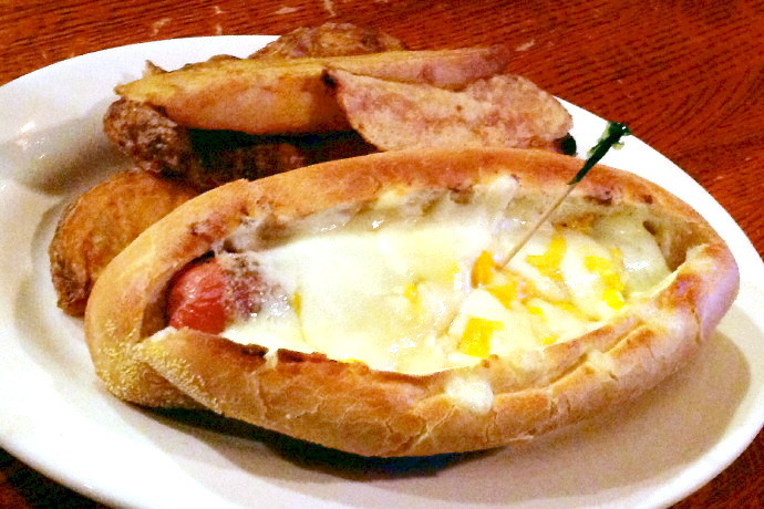 photo of a hot dog from R.F. O'Sullivan's, Somerville, MA