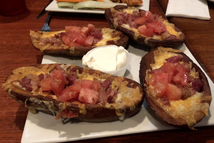 photo of potato skins from R.F. O'Sullivan's, Somerville, MA (from hiddenboston.com)