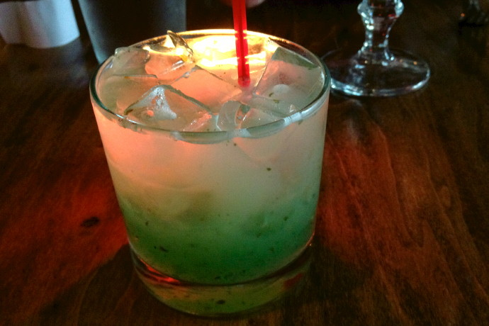photo of a mojito from Orinoco, Brookline, MA