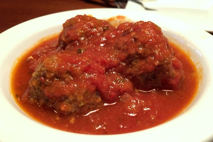 photo of meatballs from the Pearl Street Station Restaurant, Malden, MA