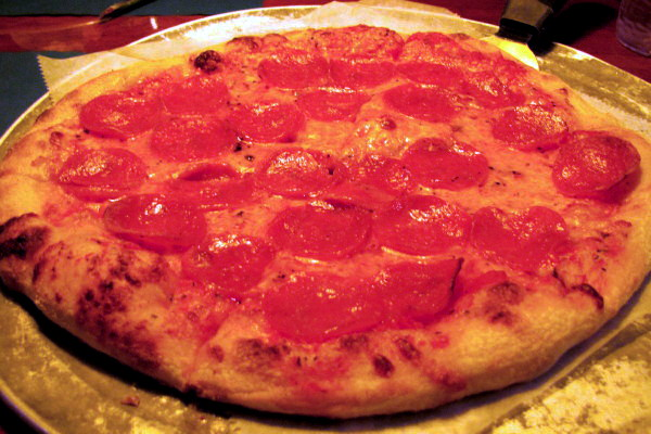 photo of pizza from the Pearl Street Station Restaurant, Malden, MA