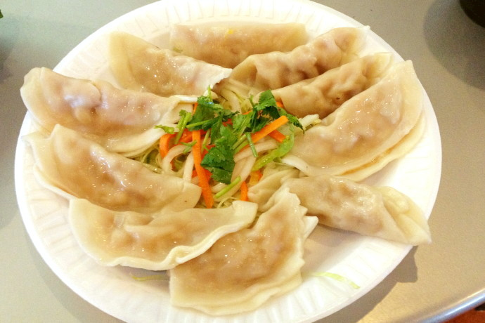 photo of pork and vegetable dumplings from Pho Viet's, Allston, MA