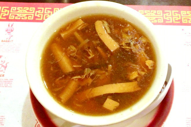 photo of hot and sour soup from Qingdao Garden, Cambridge, MA