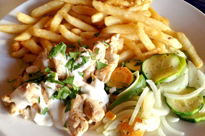 photo of chicken shawarma from Sahara Cafe and Restaurant, Worcester, MA