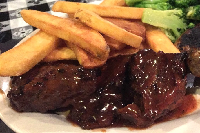 Photo steak tips from seapoint bar and grill south for Steak boston
