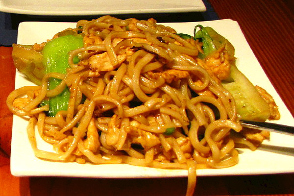 photo of Shanghai pan-fried noodles from Shanghai Gate, Allston, MA