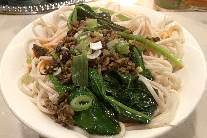 photo of dan dan noodles from Sichuan Garden, Brookline, MA