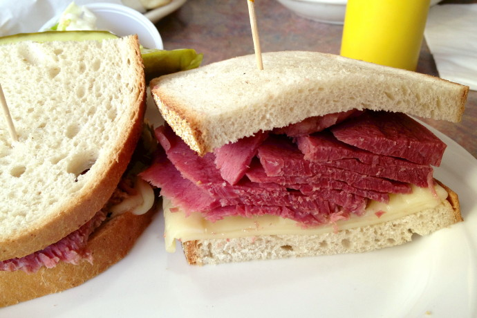 Photo Of Corned Beef Sandwich From Star On 18 Diner Manhattan New York Go To Random Photos Index