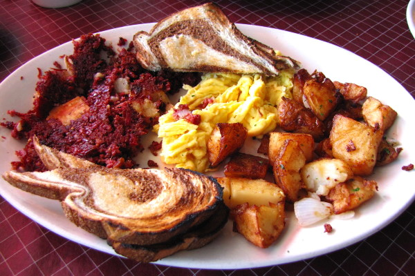 photo of corned beef hash breakfast from Stars, Hingham, MA