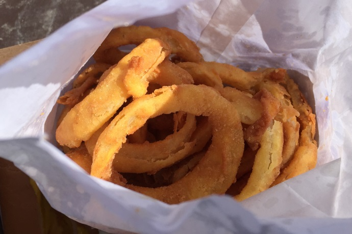 photo of onion rings from Sullivan's, South Boston, MA